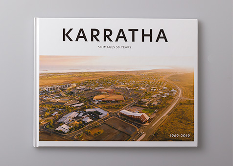 Karratha: 50 Years 50 Images 1969–2019 – thumbnail showing cover design.