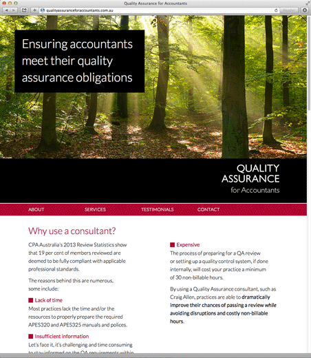 Quality Assurance for Accountants: Website