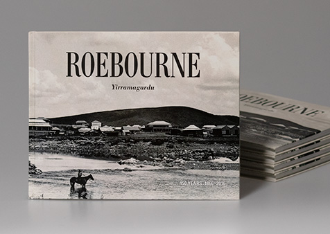 Roebourne 150 years 1866–2016 – thumbnail showing cover design.