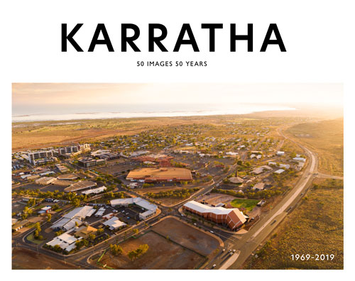Book cover design for Karratha 50 Years 50 Images.