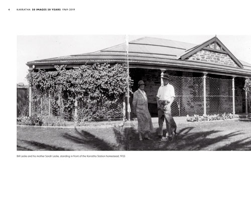 Layout design for Karratha 50 Years 50 Images.