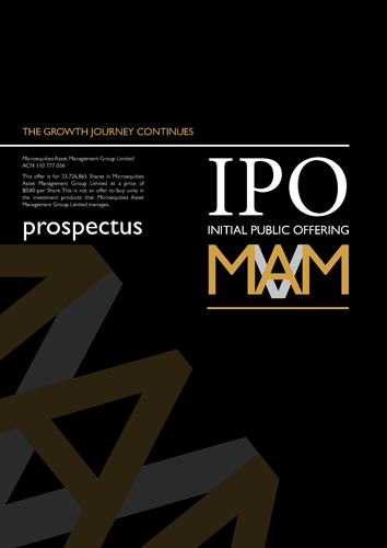 Microequities Initial Public Offering – cover design