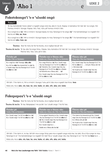 PEARL Learning Materials for Tonga: page from the Teacher Guide