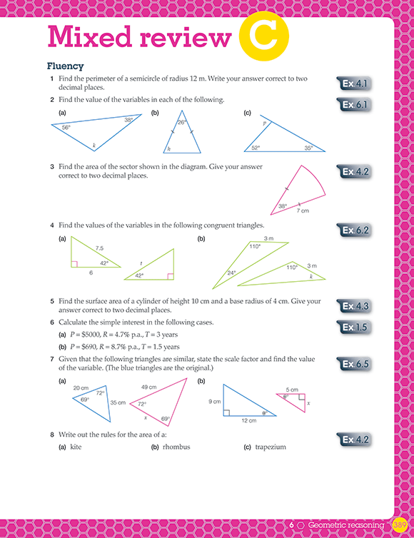Typesetting and illustration for Pearson Mathematics