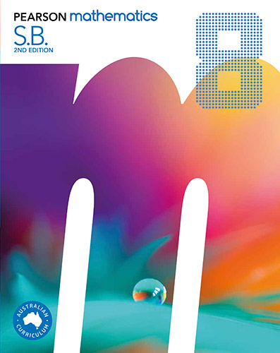 Front cover of Pearson Mathematics 8 Student Book 2en edition.