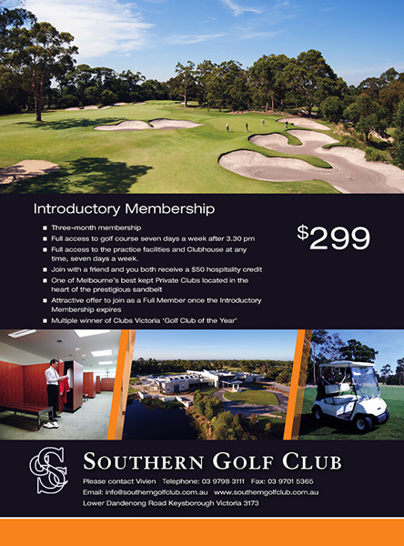 Southern Golf Club: Magazine advertisment