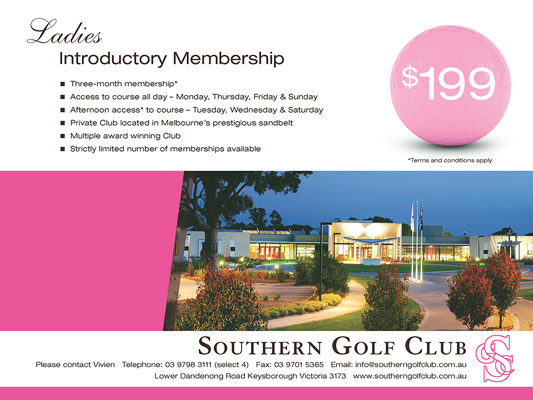Southern Golf Club: Press advertisement