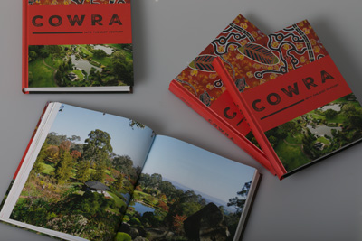 Photo of the cover design for regional history book, Cowra: Into the 21st Century.