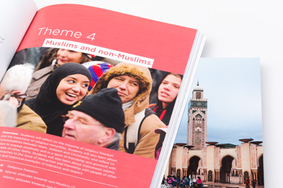 Photograph of the student resource showing one of the images displayed in the publication.