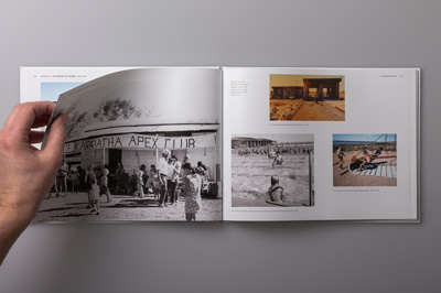 Layout design showing 1970s photographs.