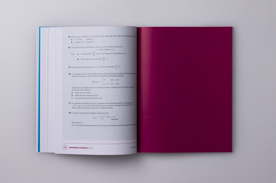 Photograph showing colour page inserted at the end of a chapter, so that the next chapter can start as a double-page spread.